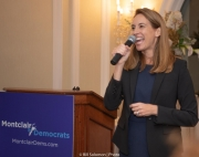 Mikie addressing supporters in Montclair, October 20th