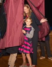 A rainy Election Day, November 6th.  Mikie voting with two of her children on a memorable day.